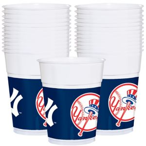 New York Yankees Plastic Cups 25ct