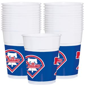 Philadelphia Phillies Plastic Cups 25ct