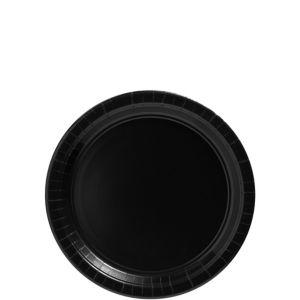 Black Paper Dessert Plates 20ct