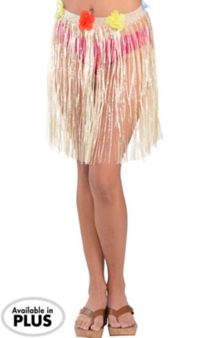 Adult XL Plastic Mini Hula Skirt