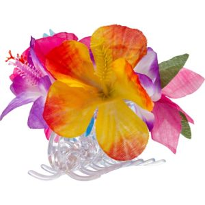 Rainbow Flower Hair Clip