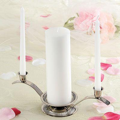 Basic Wedding Unity Candle Set 3ct