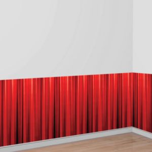 Bottom Panel Red Curtain Hollywood Movie Night Scene Setter
