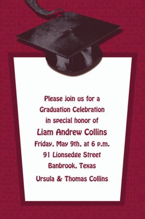 Custom Berry Congrats Grad Invitations