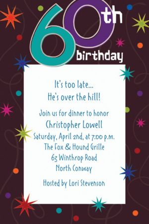 Custom The Party Continues 60th Birthday Invitations