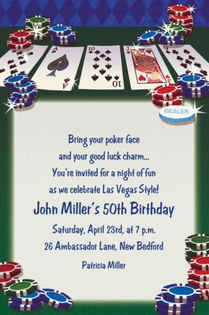 Custom Texas Hold'em Invitations