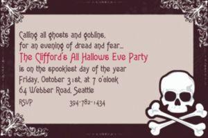 Custom Midnight Dreary Halloween Invitations