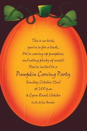 Custom Pumpkin Glow Halloween Invitations