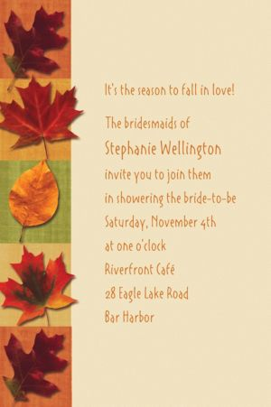 Custom Autumn Hues Invitations