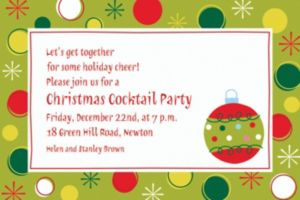 Custom Holiday Buzz Invitations