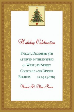 Custom Victorian Tree Invitations