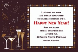 Custom Let's Toast New Year's Invitations