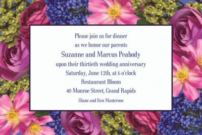 Custom Garden Bouquet Invitations