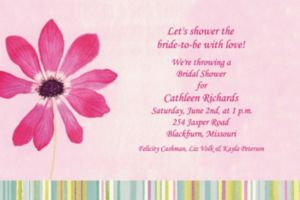 Custom Watercolor Blooms Invitations