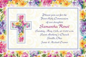 Custom Joyful Blessing Invitations