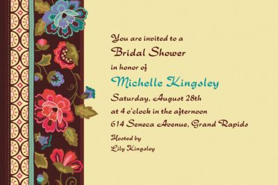 Custom Elegant Jacquard Invitations