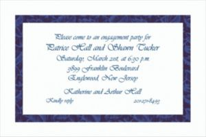 Custom Narrow Navy Damask Invitations