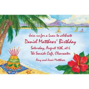 Custom Luau Birthday Invitations