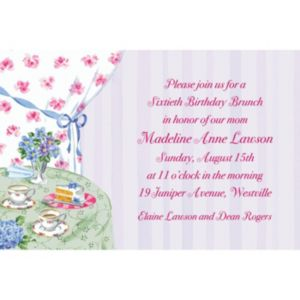 Custom Birthday Tea Invitations