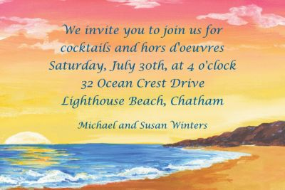 Sunset on the Beach Custom Invitation