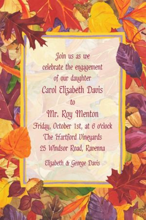 Custom Fallen Autumn Leaves Invitations