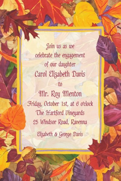 Fallen Autumn Leaves Custom Invitation
