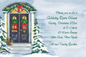 Custom Christmas Front Door Invitations