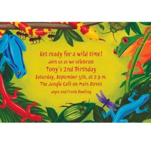 Custom Bugs & Reptiles Invitations