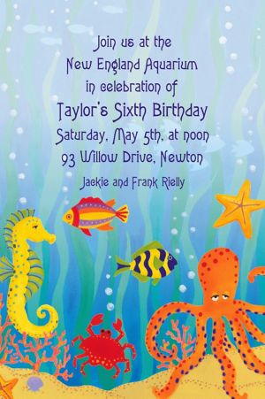 Custom Under the Ocean Invitations