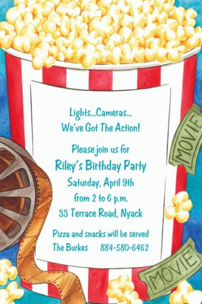 Custom Movie Night Invitations