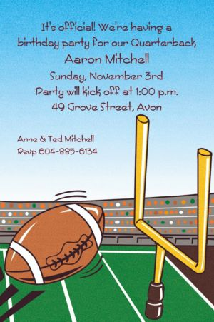 Custom Field Goal Invitations