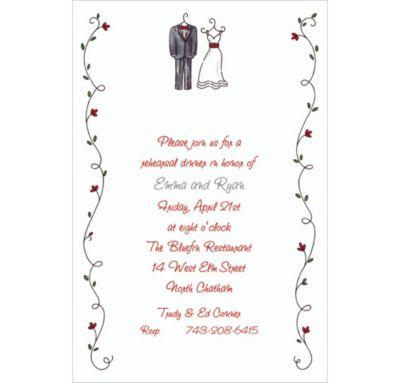 Little Outfits & Vines Custom Wedding Invitation