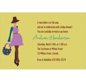 Custom Trendy Momma Baby Shower Invitations