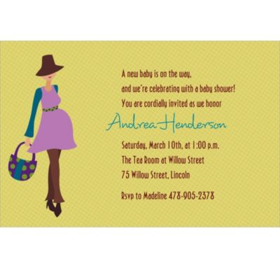 Trendy Momma Custom Baby Shower Invitation