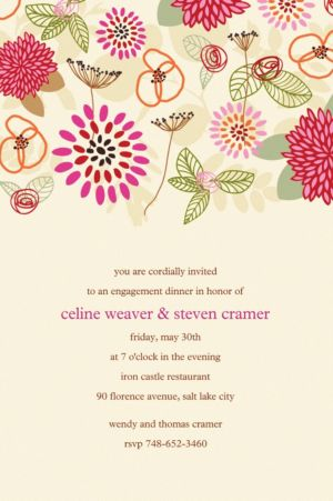 Custom Prancing Pattern Warm Invitations