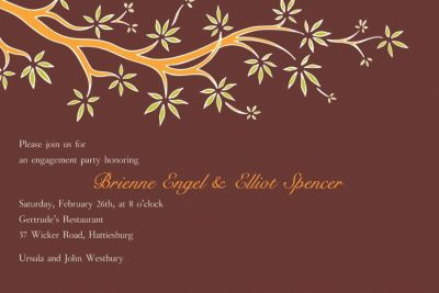 Custom Budding Tree Bold Invitations