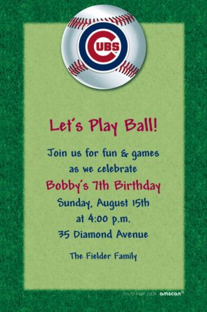 Custom Chicago Cubs Invitations