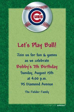 Custom Chicago Cubs Invitations