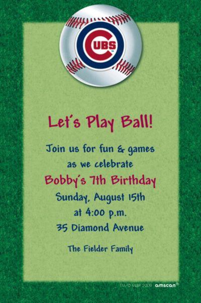 Chicago Cubs Custom Invitation
