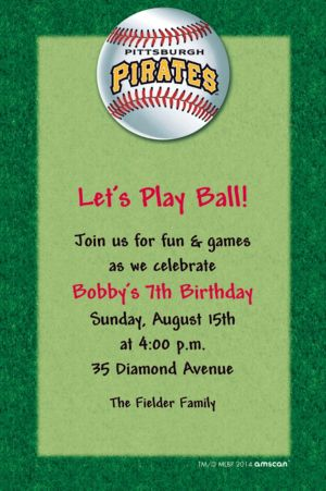 Custom Pittsburgh Pirates Invitations