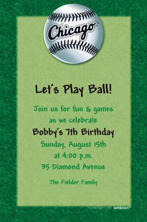 Custom Chicago White Sox Invitations