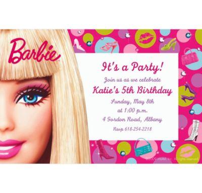 Barbie Custom Invitation