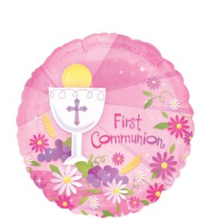 First Communion Balloon - Girl's Blessings