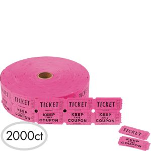 Double Roll Coupon Raffle Tickets 2000ct