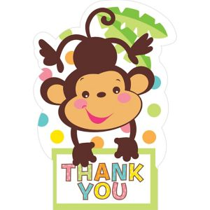 Fisher-Price Jungle Baby Shower Thank You Notes 8ct