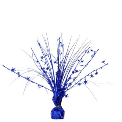 Royal Blue Foil Spray Centerpiece
