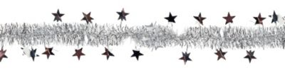 Silver Star Tinsel Garland