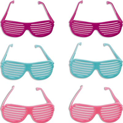 Pastel Slotted Glasses 3ct