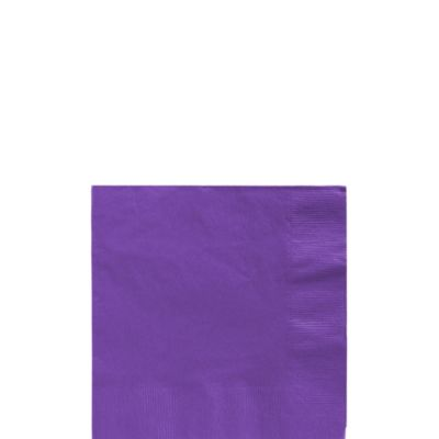 Purple Beverage Napkins 125ct