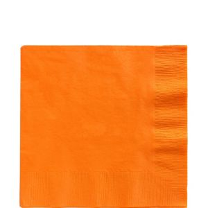 Orange Lunch Napkins 125ct